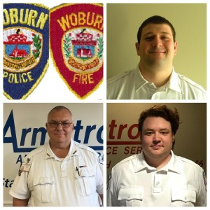 Pictured are the three responding Armstrong Paramedics. Top right: Kris Keraghan. Bottom left: Chris Mahoney. Bottom right:  Sylvian Ellis.