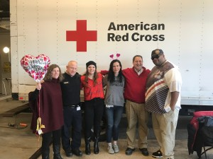 (Left-to-right) Armstrong Human Resource Director Beth Keegan, Field Operations Manager Sean Mangan, EMT/EMD Kari Smith, EMT Elysia Heilig, Director of Operations Mike Kass and EMT Jean Witty.