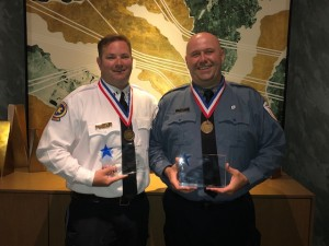Armstrong Paramedic John Sossei and EMT Ron Keech were recognized at the American Ambulance Association's Stars of Life banquet.