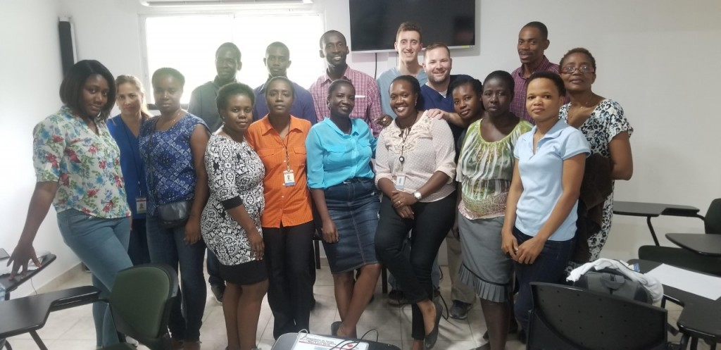 Armstrong EMT Cole Turissini and Paramedic John Sossei (back row) traveled to Haiti last month to share life support techniques with medical professionals.